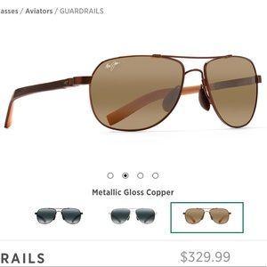 Maui Jim Guardrails Polarized Aviator Sunglasses
